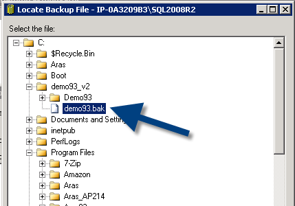 select database backup