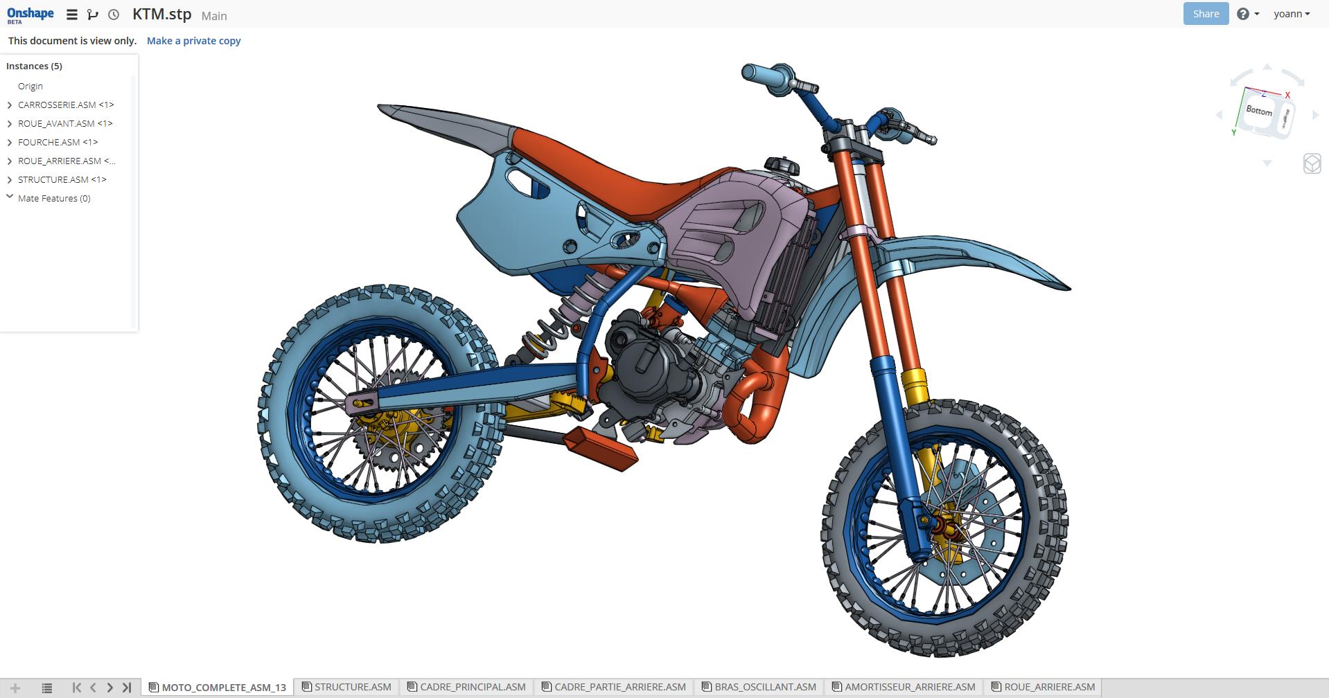OnShape Motorbike KTM