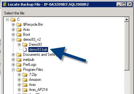 select database backup