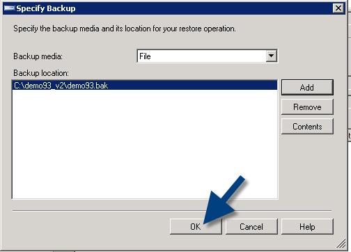 validate database backup
