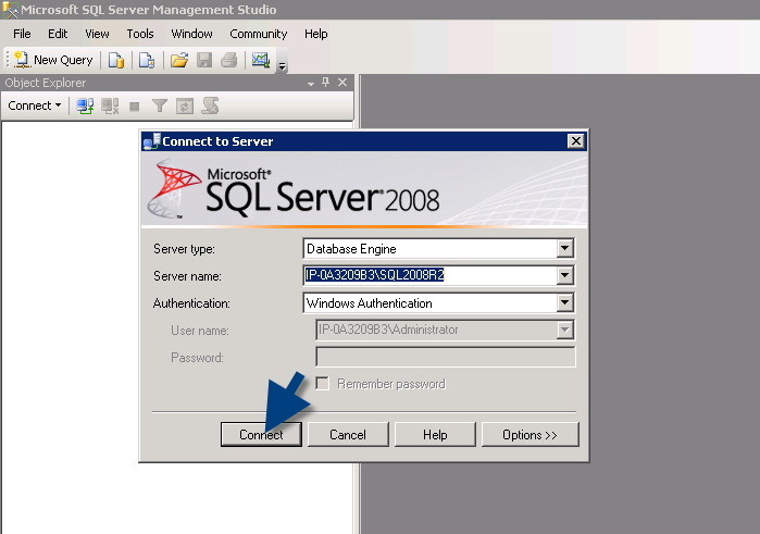connect to SQL server microsoft